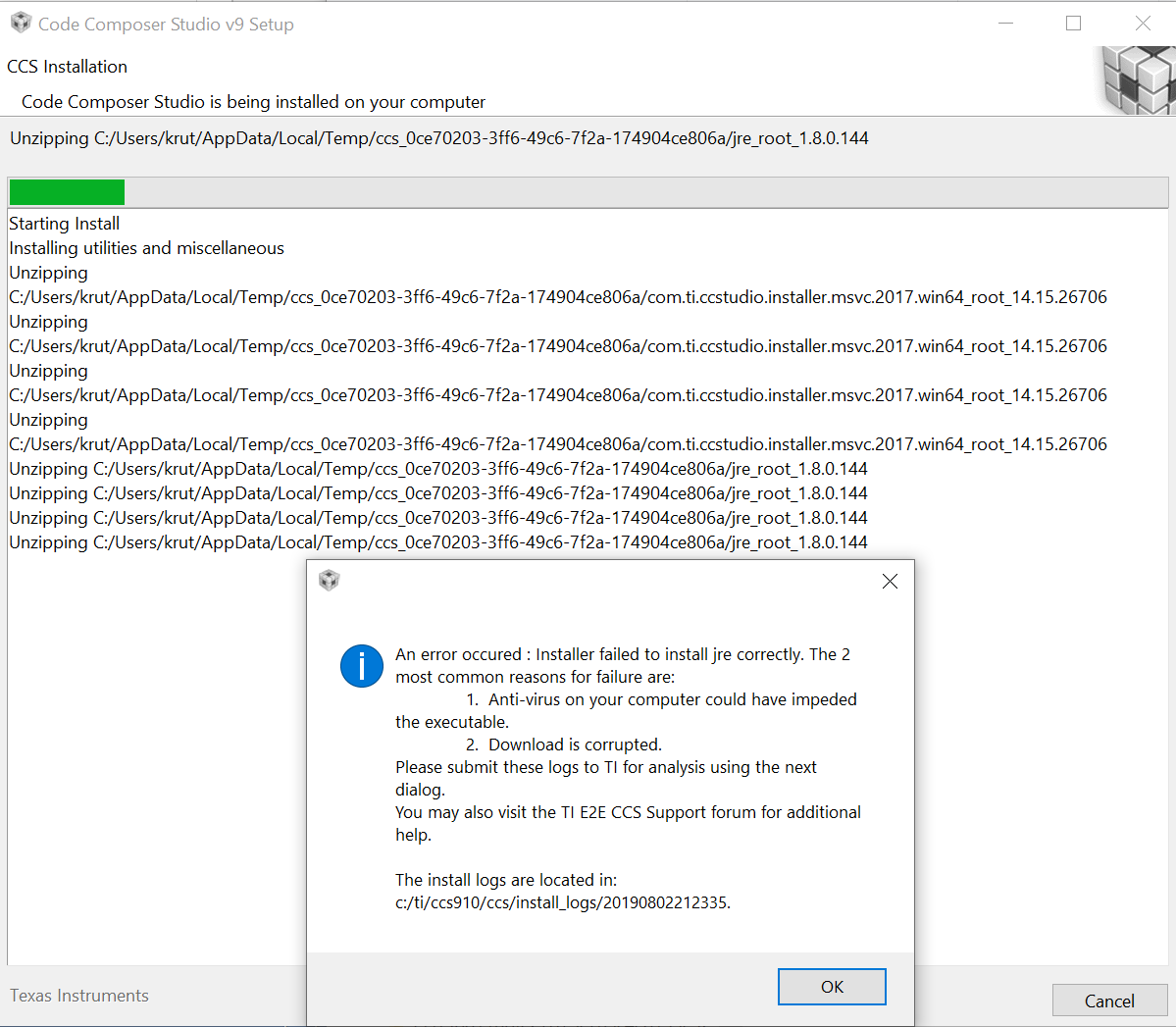 Resolved] CCS: CCS 9 1 0 installation failed on Windows 10