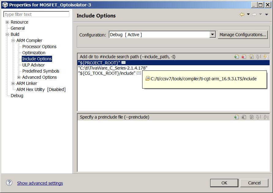 Resolved] CCS/TM4C123GH6PM: Help please: Error #10234-D: unresolved