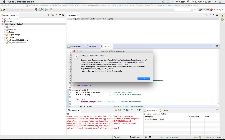 ti code composer studio mac