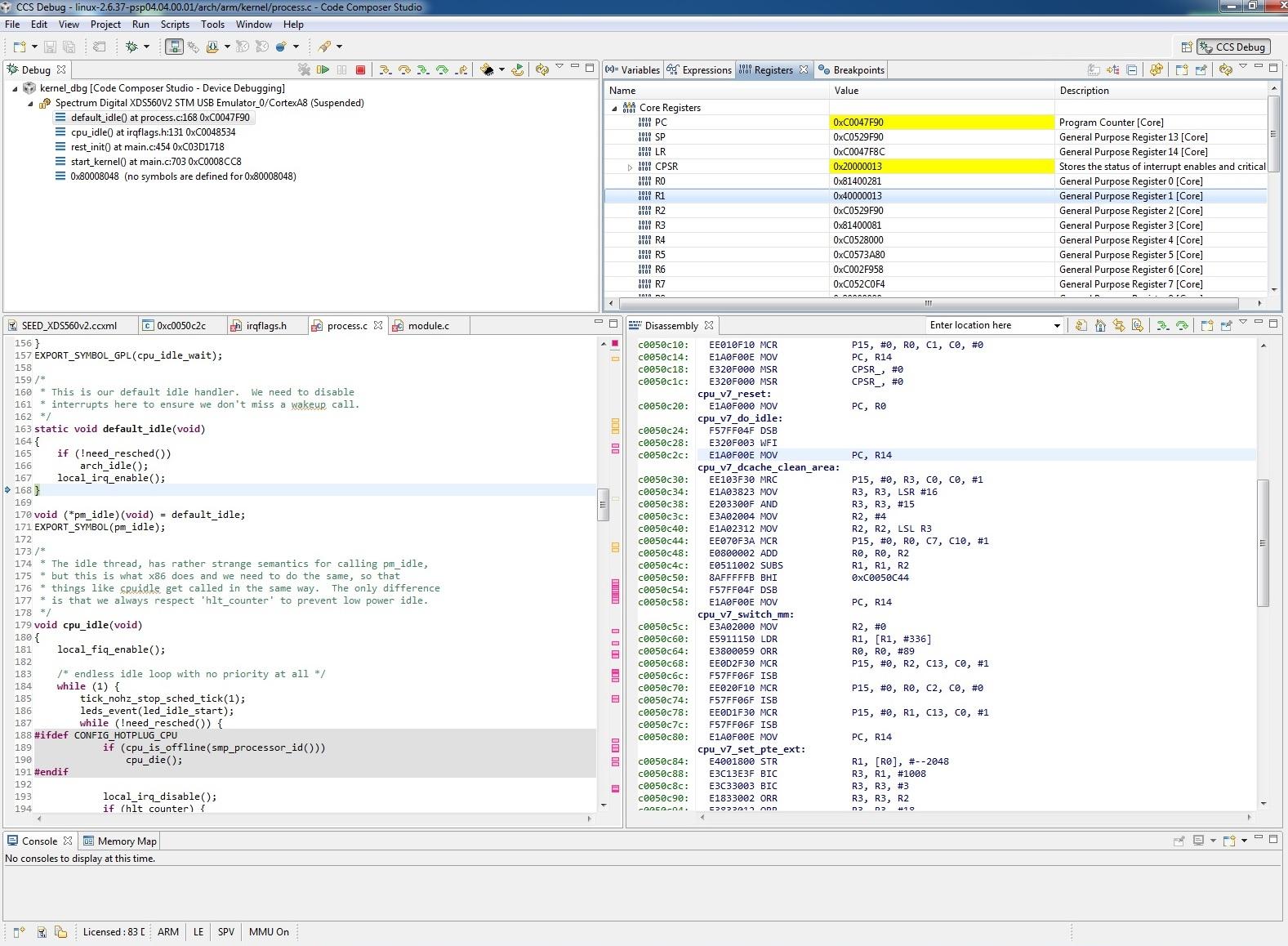 How To Debug Loadable Module Ko Via Jtag Code Composer Studio Forum Code Composer Studio Ti E2e Support Forums