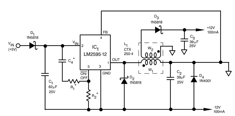 resolved  lm2595-adj inverting buck boost feedback question  - simple switcher u00ae