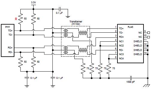 dp83848qsqx pull up resistors power stress