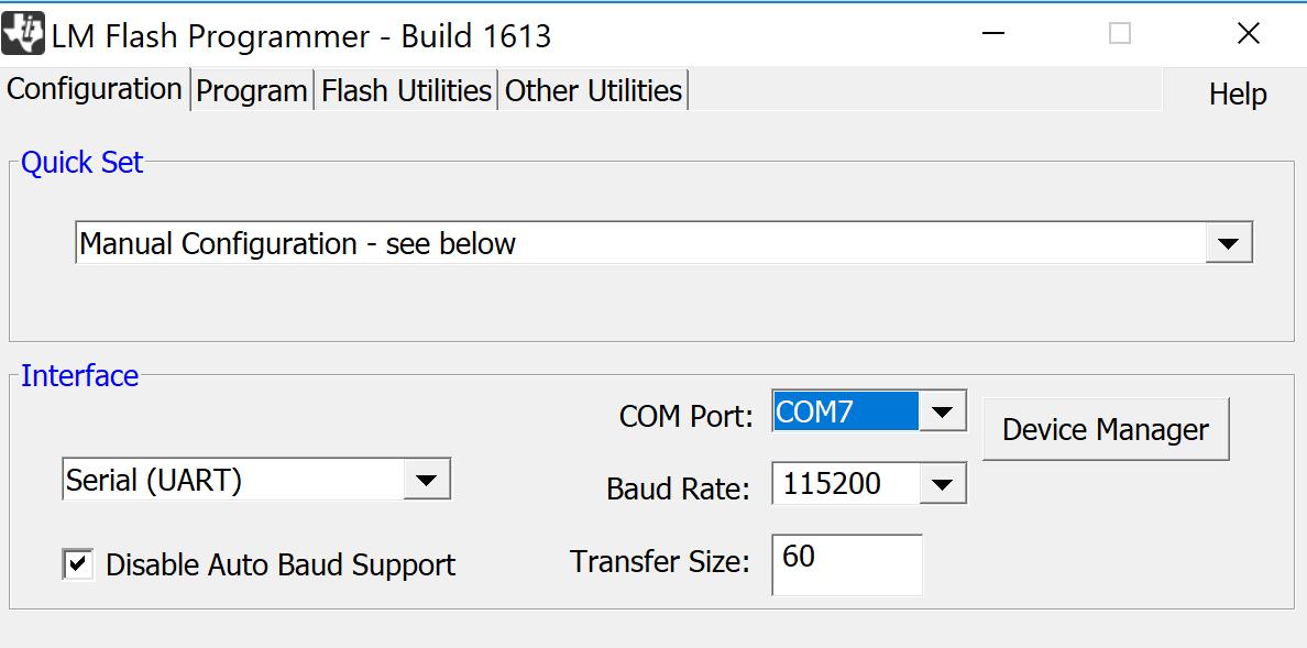TM4C123GH6PM: Firmware programming through UART - Other