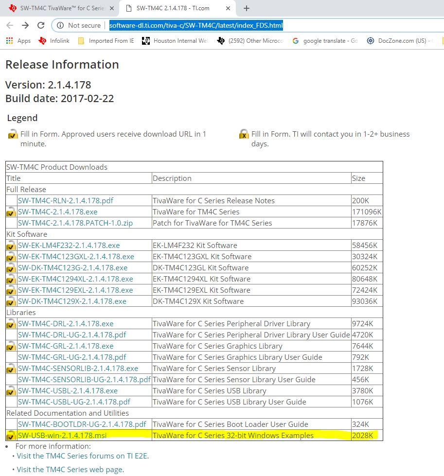Resolved] TM4C123GH6PM: Tiva C USB Bulk Example - Other