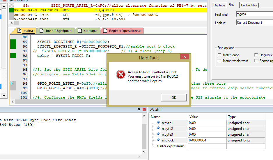 Issue Setting Up SSI2 on TM4C123GH6PM to talk to MCP3008 ADC
