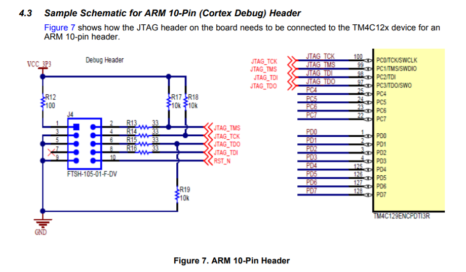 Resolved] TM4C1294NCPDT: JTAG connection - Other