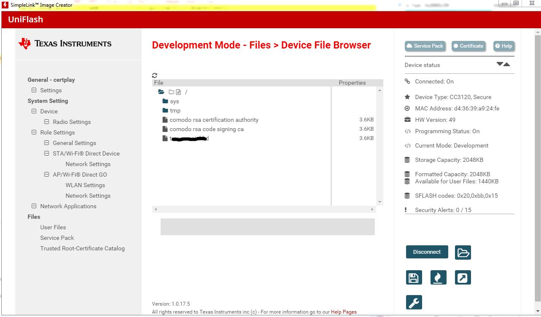 Resolved Cc3120 Secure File Certificate Wi Fi Forum Wi Fi Ti