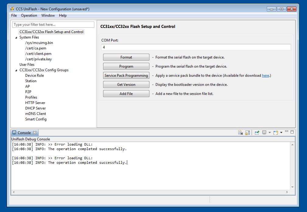 uniflash pour windows 8.1