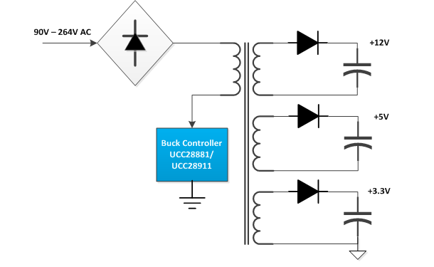Battery Charger Diy Flyback Smps Output Instability And Exploding Caps besides 12v 5   Transformerless Battery additionally Power Supply 5v additionally The Cheap 100 Watt Transistor Power  lifier Project together with Buck Boost Converter Schematic. on 12v to 5v fet diagram