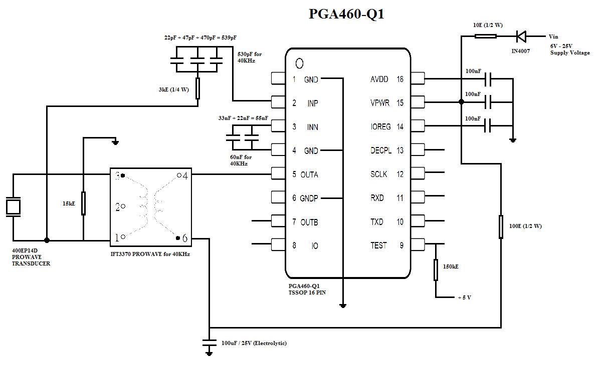 pga460-q1  unable to read bursts at outa pin - sensors forum - sensors