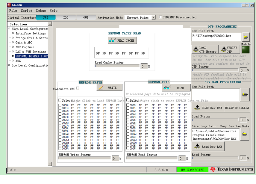 Resolved] PGA900EVM: How to load the code using the GUI software for