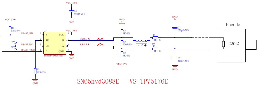 SN65HVD3088E: Open the differential output voltage (VOD)of