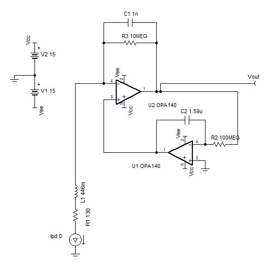 charge amplifier with low impedance input amplifiers forum rh e2e ti com Volt Gauge Wiring Diagram Amp Gauge Wiring Diagram Ford