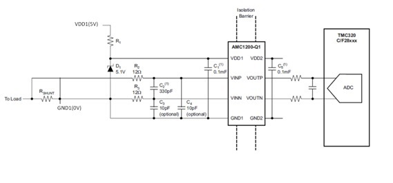 amc1200 uses for current detect of low side - precision amplifiers forum