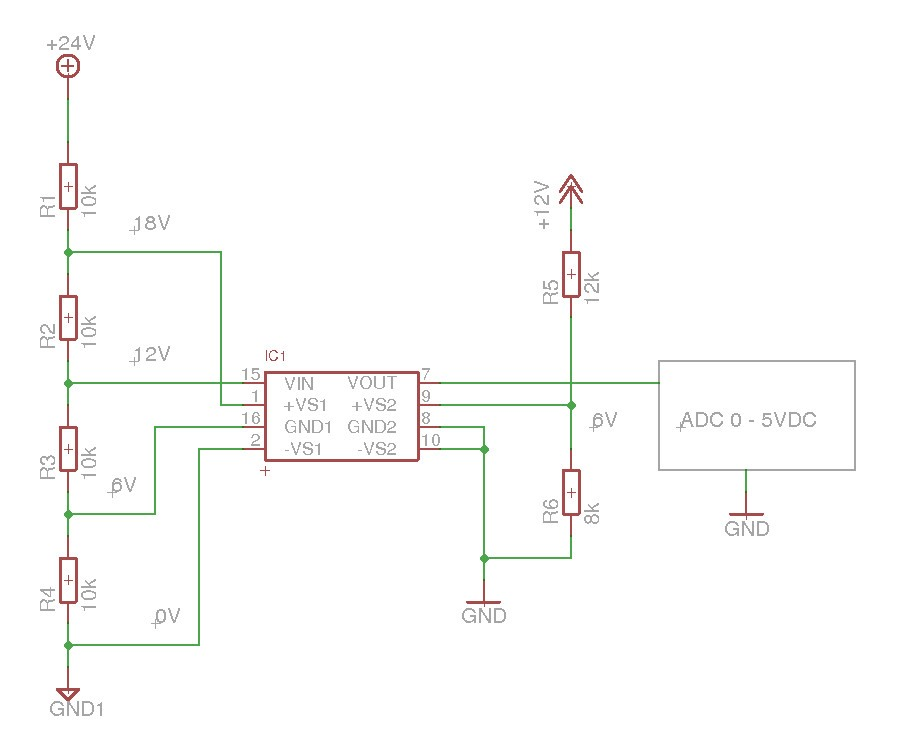 ISO124: Amplifier for galvanic isolated measuring of dc-voltage from