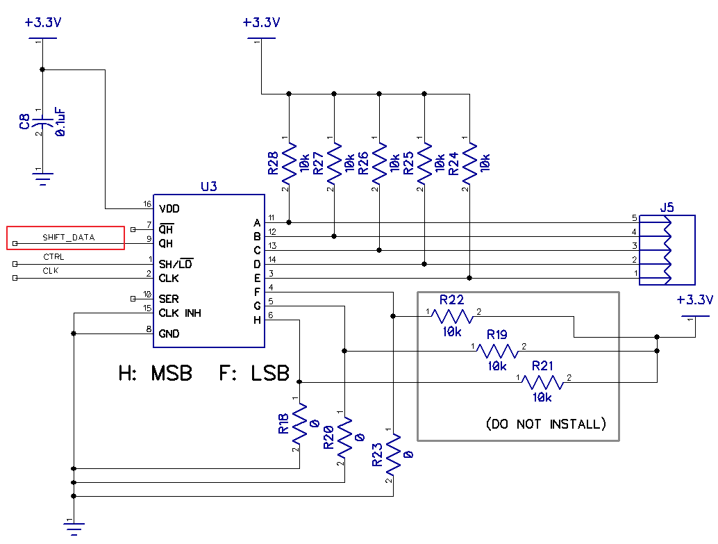 Resolved Sn74hc165 Qh State On Startup Logic Forum Ti How To Read A Diagram Ever 40 Ohms Ground I Know This Part Is Causing The Issue Because Lifted Pin 9 Remove It From Circuit And Everything Works Fine