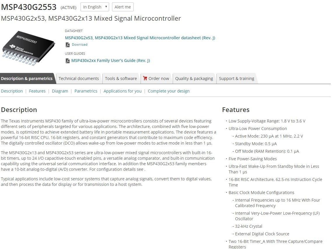 Resolved] MSP430G2553: MSP430G2553 - MSP low-power
