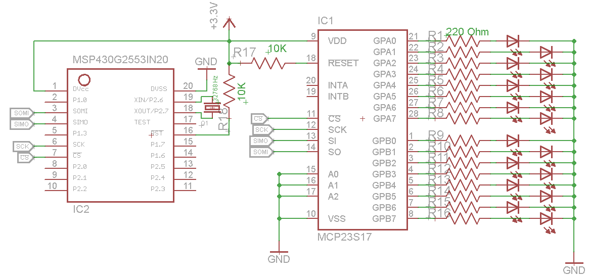Resolved] MSP430G2553 SPI with MCP23S17 - MSP low-power