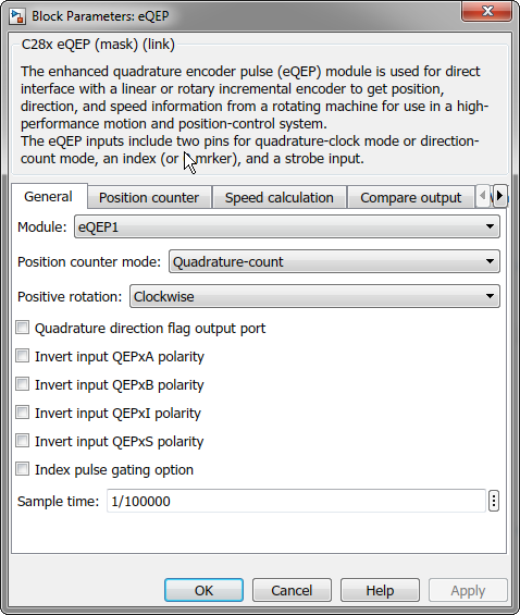 Resolved] LAUNCHXL-F28379D: Simulink eQEP block - C2000