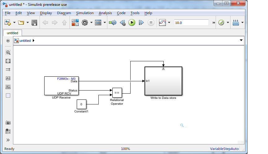 Resolved] Sending data from Matlab/Simulink to Concerto F28M35H52C1