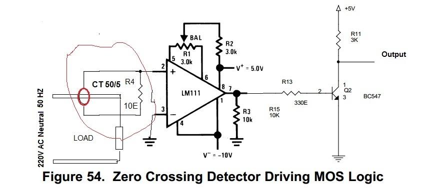 resolved  lm311 zero crossing detector