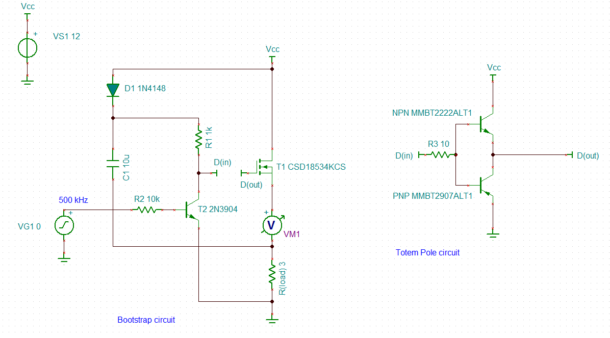 TINA/Spice/CSD18534KCS: High side N-Channel MOSFET not