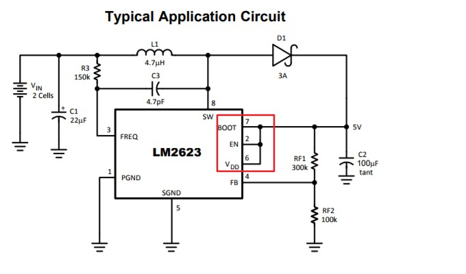 LM2623: provide a Schematic diagram output is 12V with LM2623 ... on