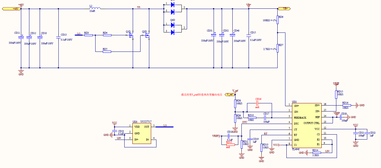 TL494: TL494 Boost output voltage spike solution - Power