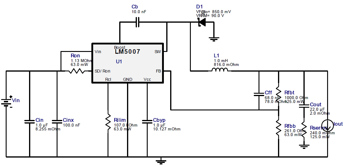 lm5007  how to reduce a very high pk