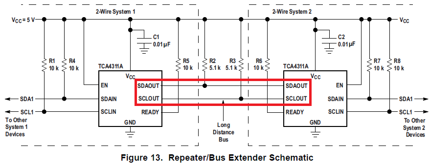 How to use TCA4311A for repeater I2C Forum