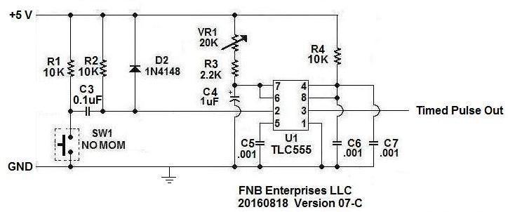 tlc 555 rc time constant minimum resistance requirement