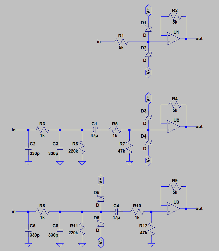 OPA1652: best input overvoltage protection practices for AC