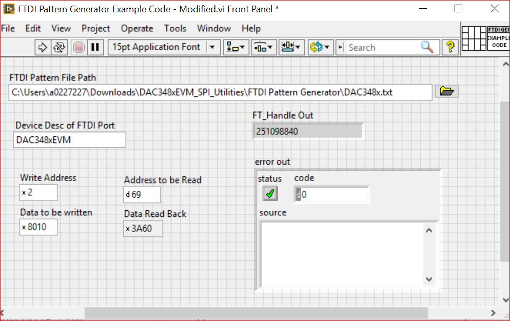 DAC34SH84EVM: DLL of DAC34SH84 Software GUI - Data converters forum