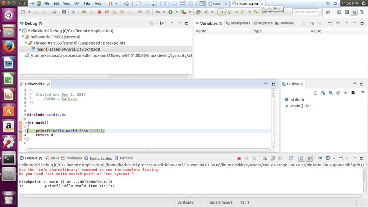 Linux: GDB debugging from Qt creator doesn't work - Processors forum