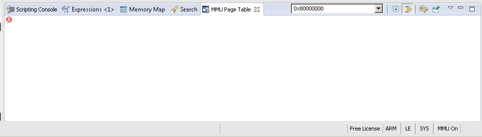 Resolved] MMU Page Table view in CCS 6 1 just displays a red