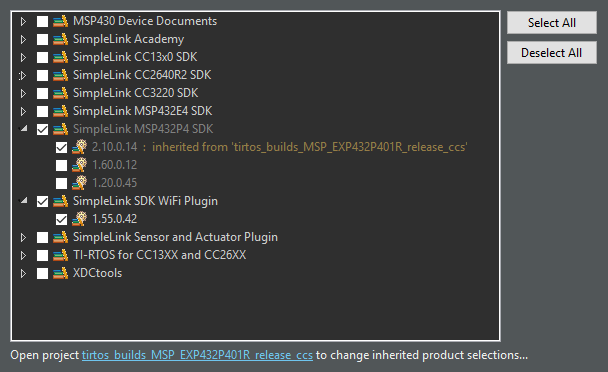 Resolved] SIMPLELINK-WIFI-CC3120-SDK-PLUGIN: Compiling network