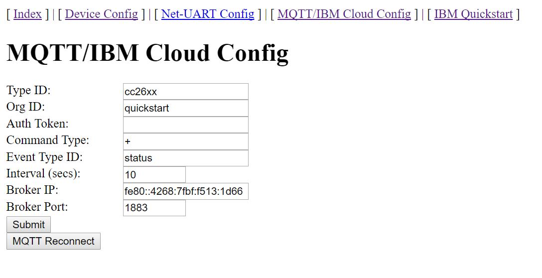 CC2650: 6lowpan contiki cc26xx-web-demo custom MQTT broker