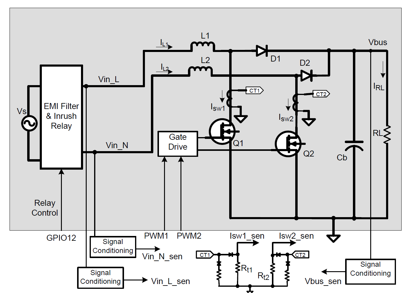 Resolved Tms320f28035 Blpfc Current Sensing Questions C2000 Relay Circuit