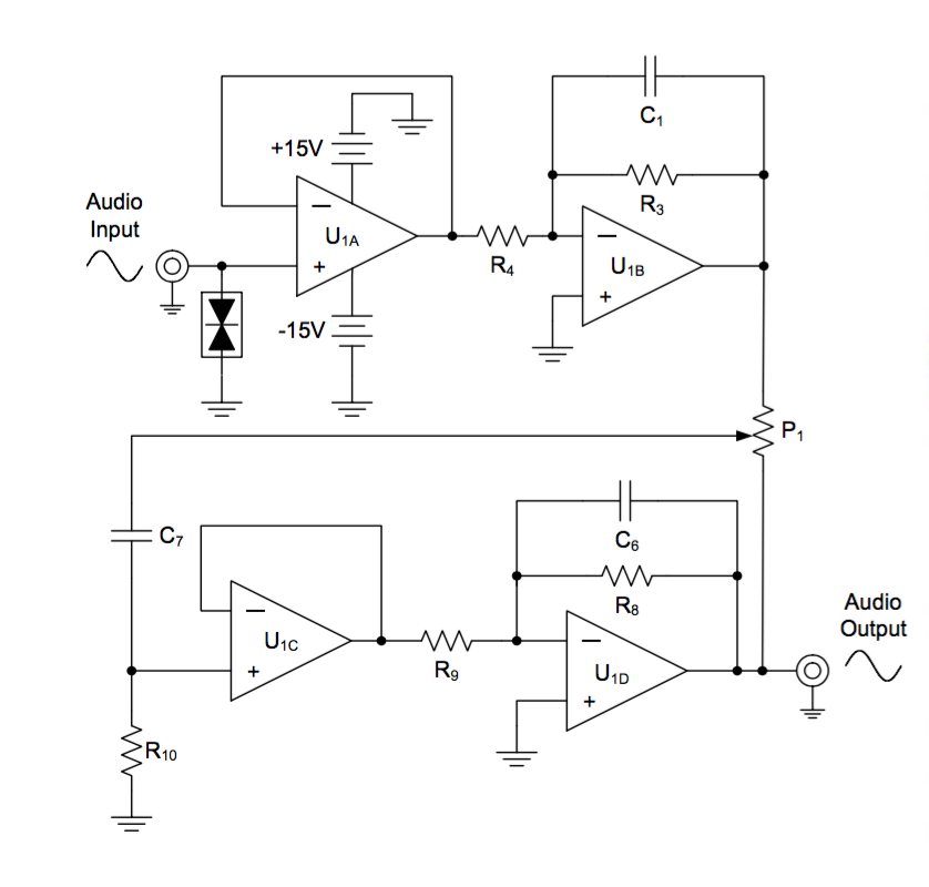 GND connections in an Audio Amplifier using a transformer