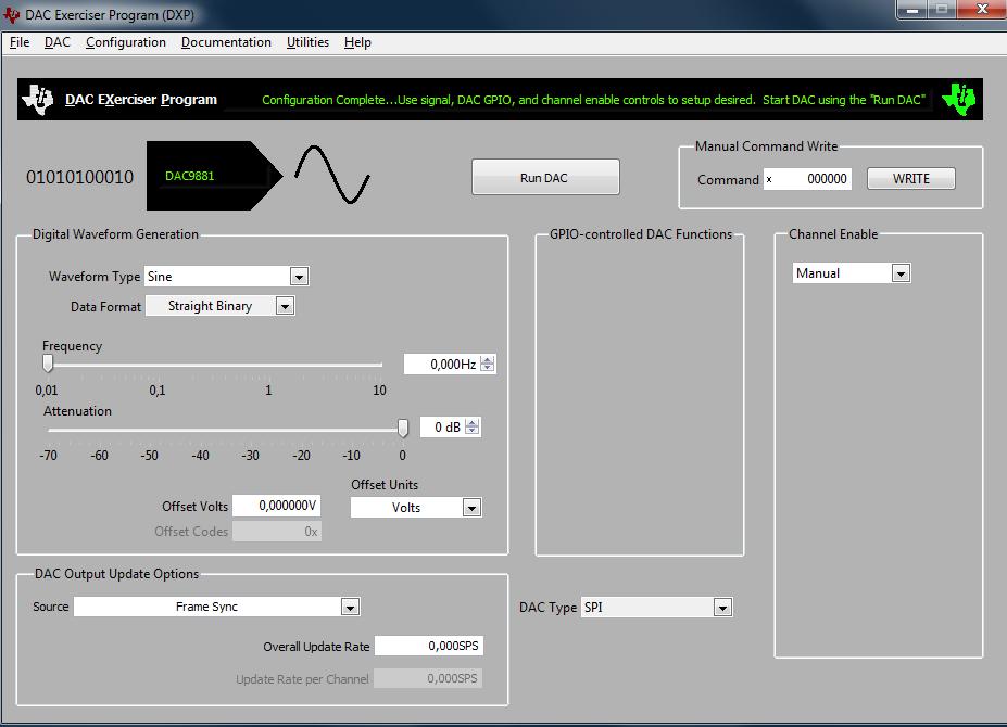 DAC9881EVM-PDK: Connection error - Data converters forum - Data