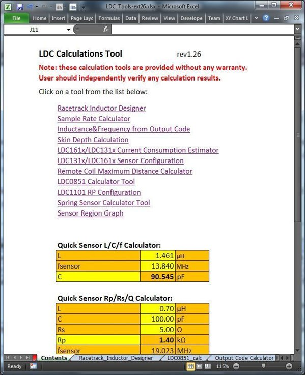 How to use the LDC calculations tool - Analog - Technical