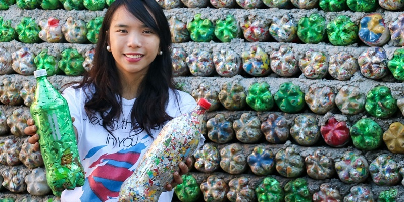 From trash to treasure - transforming plastic bottles into a park for elementary students