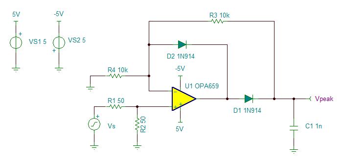 Resolved] Super High Speed Peak Detector Needed - Amplifiers forum