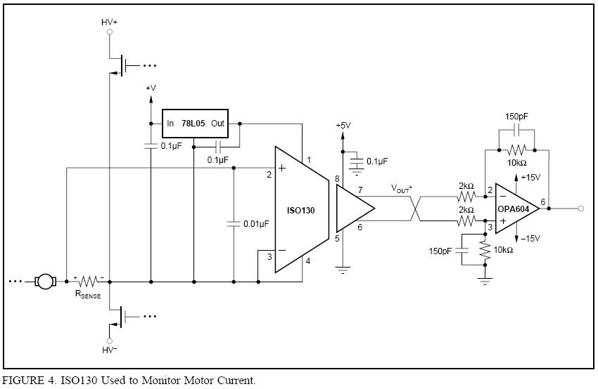 motor phase current sensing with iso130