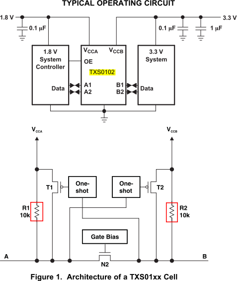 resolved  pulling-up resistors with txs0102 - i2c forum - i2c