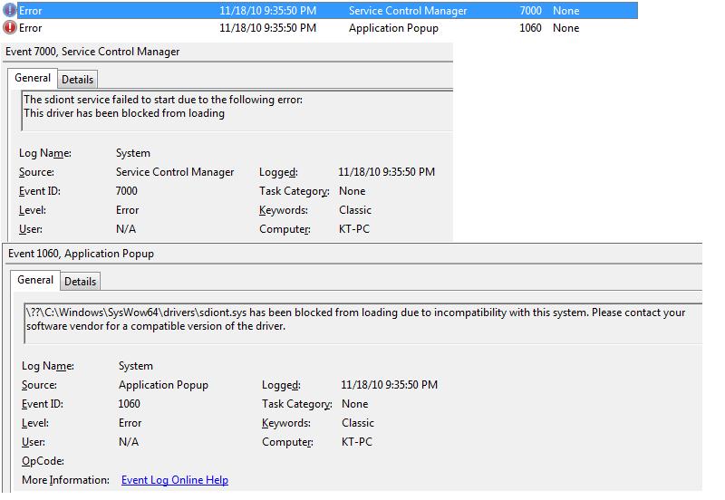 CCS 4 errors in Windows Event Viewer - Code Composer Studio™ forum