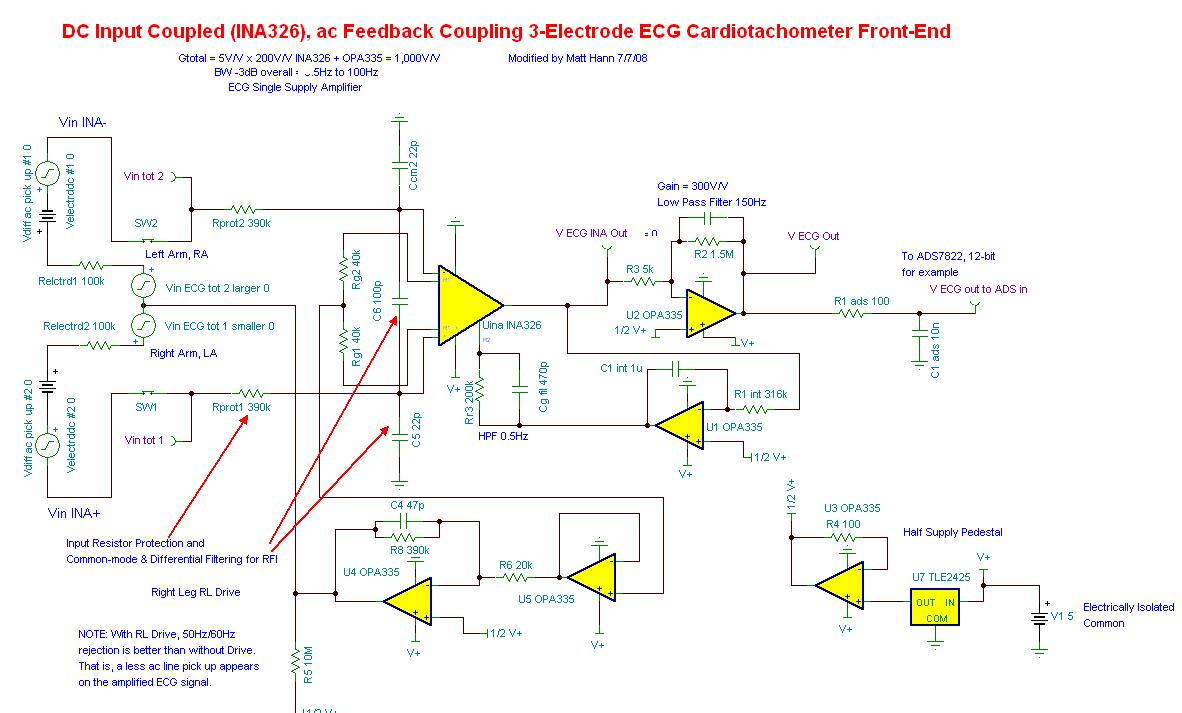 Resolved Driven Right Leg Circuit Questions Amplifiers Forum Dc Rc I Found That The Level Of Drl Signal See Below From Ina326 Is Not Exactly 1 2v This Makes To Be Saturated