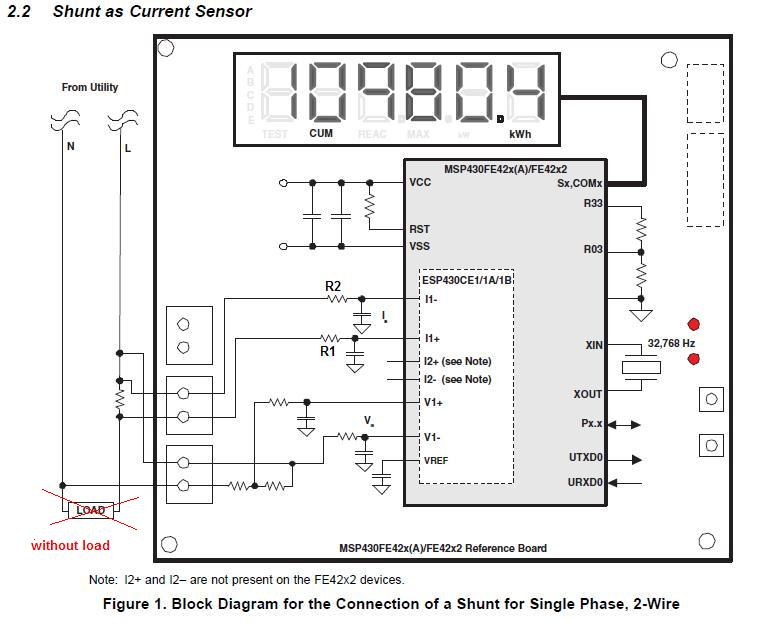energy meter shunt resistor connections problem msp low power energy meter 1
