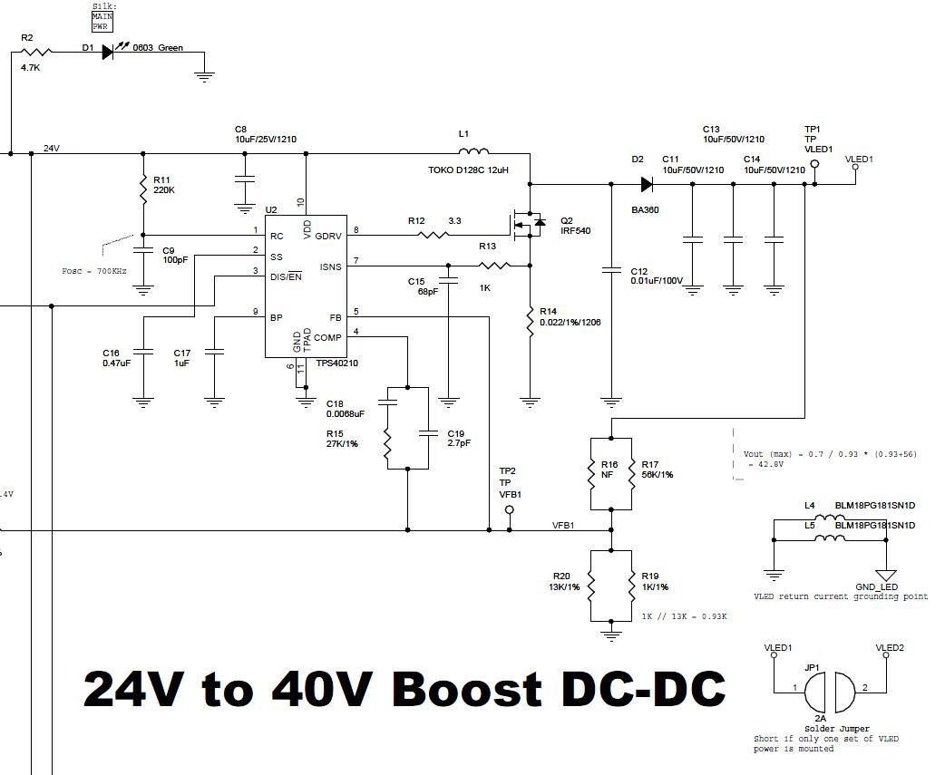 Resolved] TPS40210 Design Problem for LED Backlight Power
