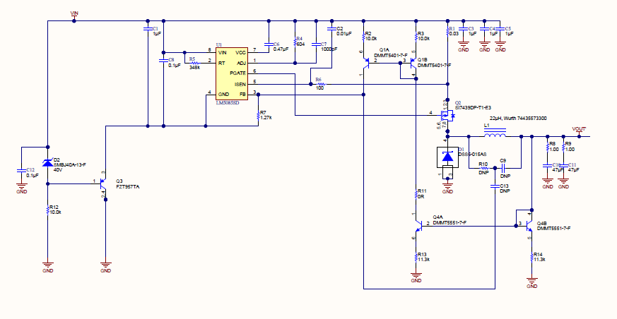 创造一个带有较低额定输入电压控制器的150v非同步降压方案